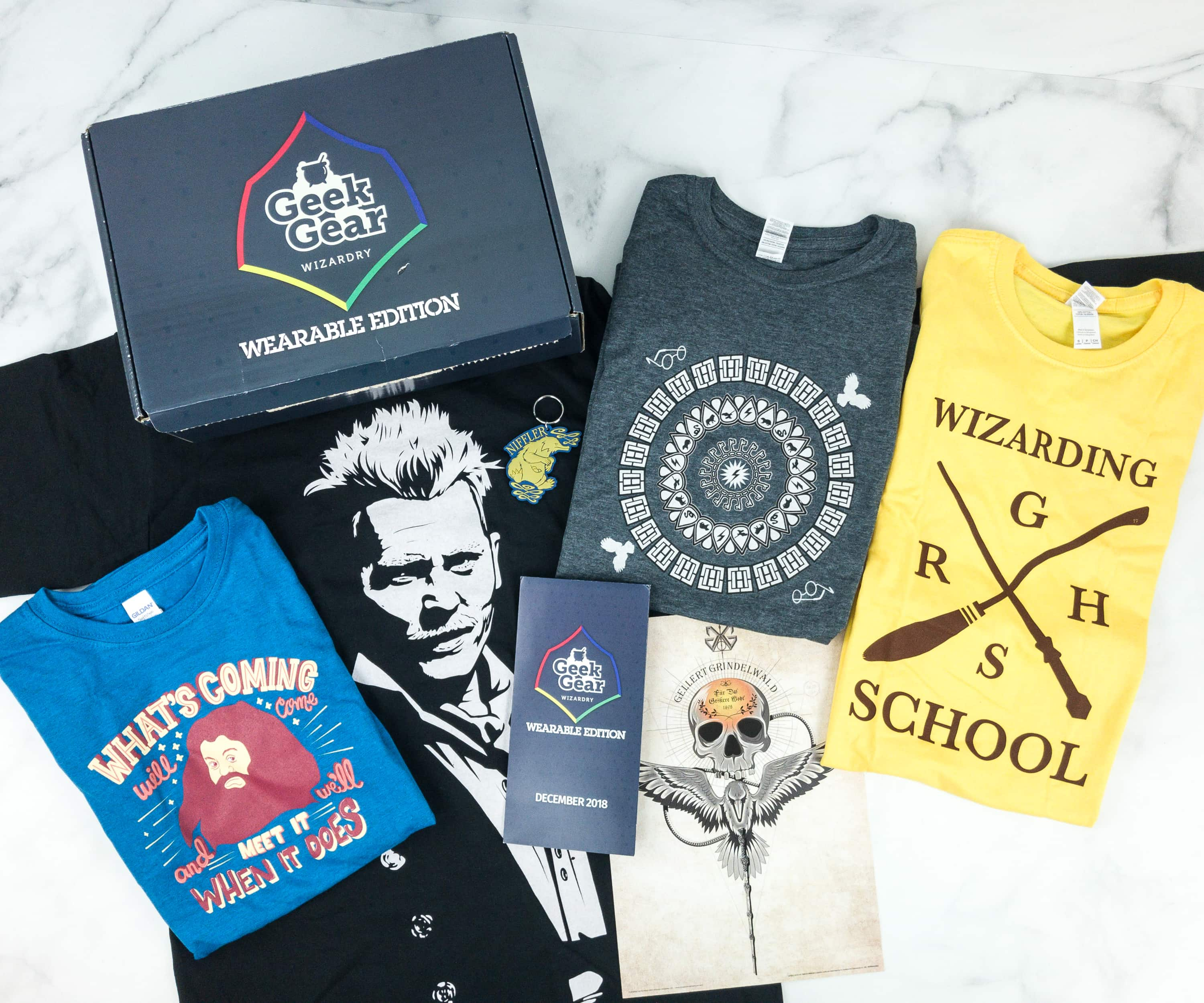 Geek Gear World of Wizardry Wearables December 2018 Subscription Box Review + Coupon