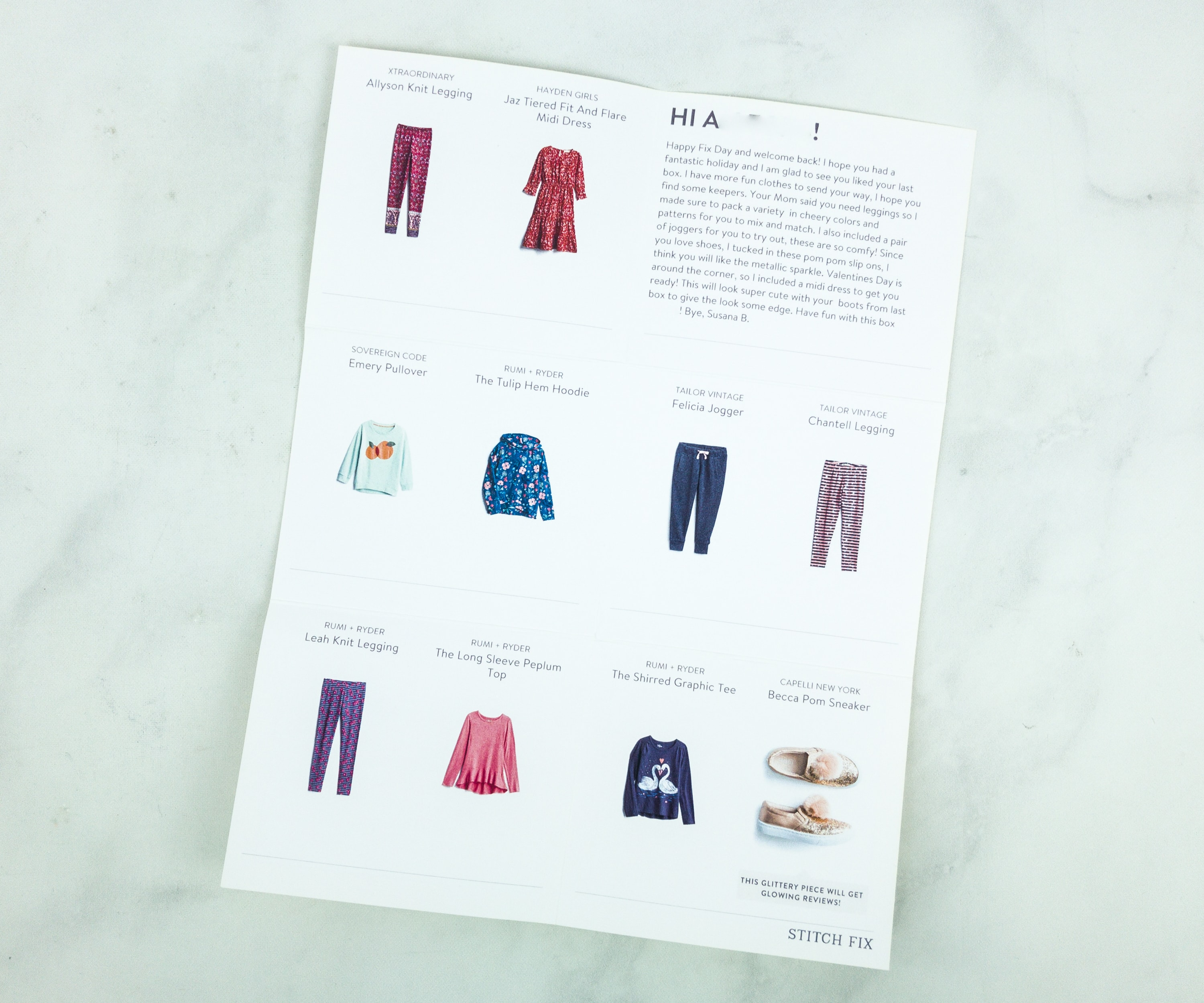 Stitch Fix Kids January 2019 Girls Review - hello subscription