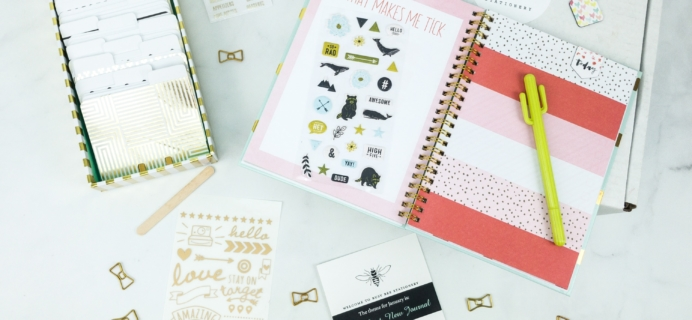 Busy Bee Stationery January 2019 Subscription Box Review