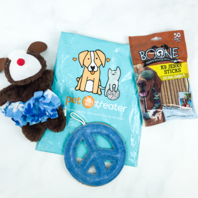 Pet Treater Dog Pack January 2019 Subscription Box Review + Coupon!