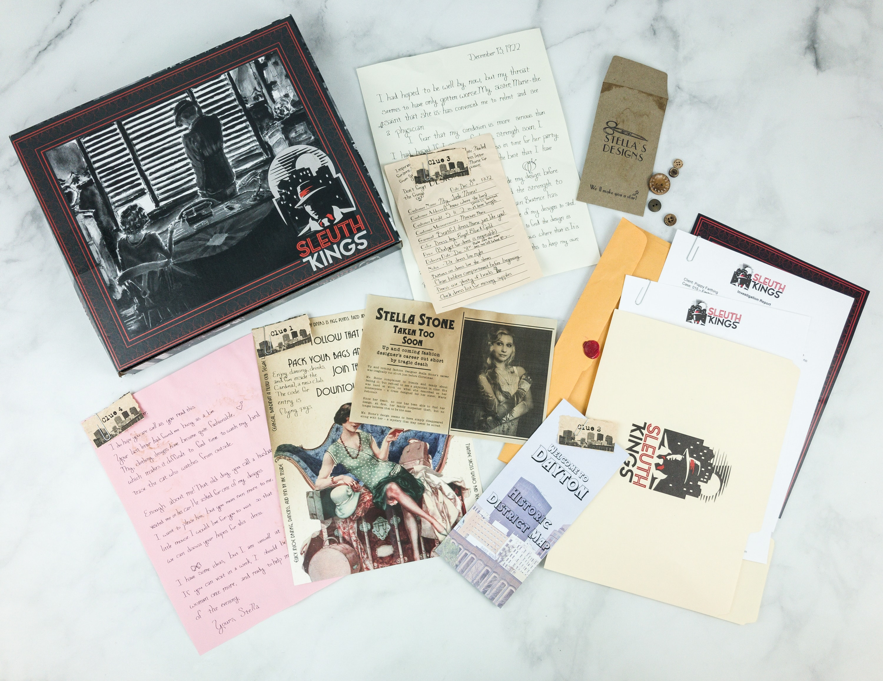 Sleuth Kings December 2018 Subscription Box Review + Coupons – Case 015
