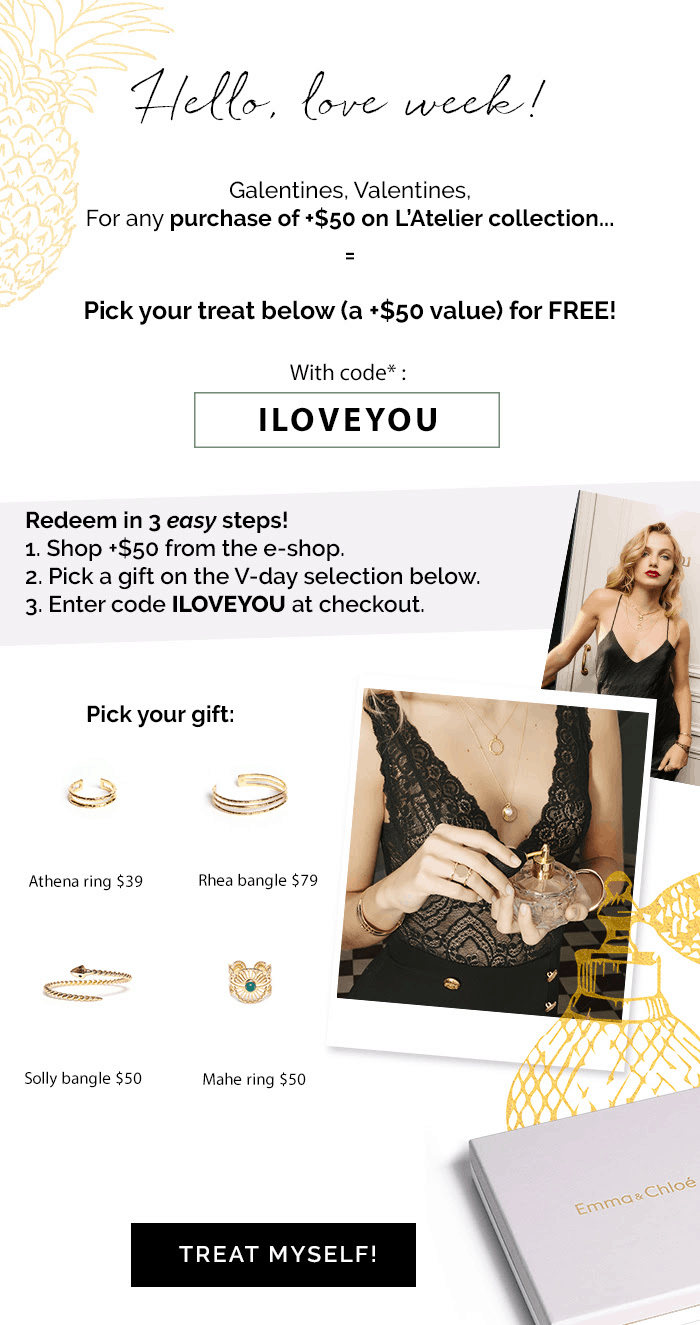Emma & Chloe Coupon: Get FREE JEWELRY with any $50+ purchase!