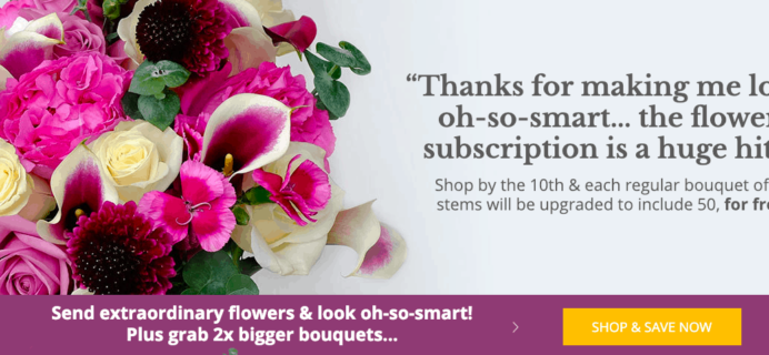 Enjoy Flowers Valentine's Day Deal: Get Double the Blooms Plus 20% Off On 3-Month Subscription!