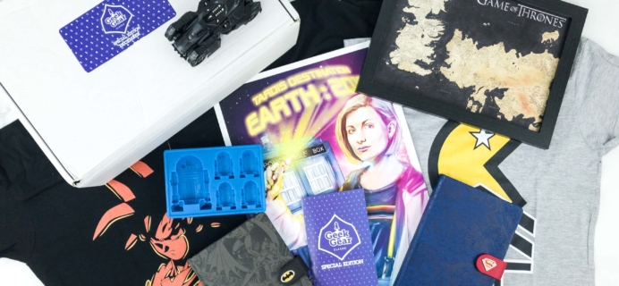 Geek Gear Box Special Edition December 2018 Subscription Box Review + Coupon