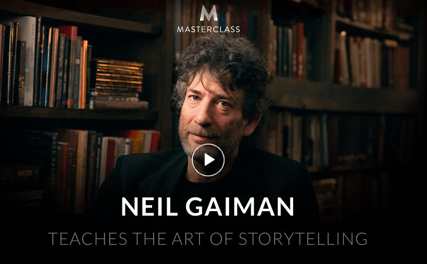 MasterClass Neil Gaiman Class Available Now!