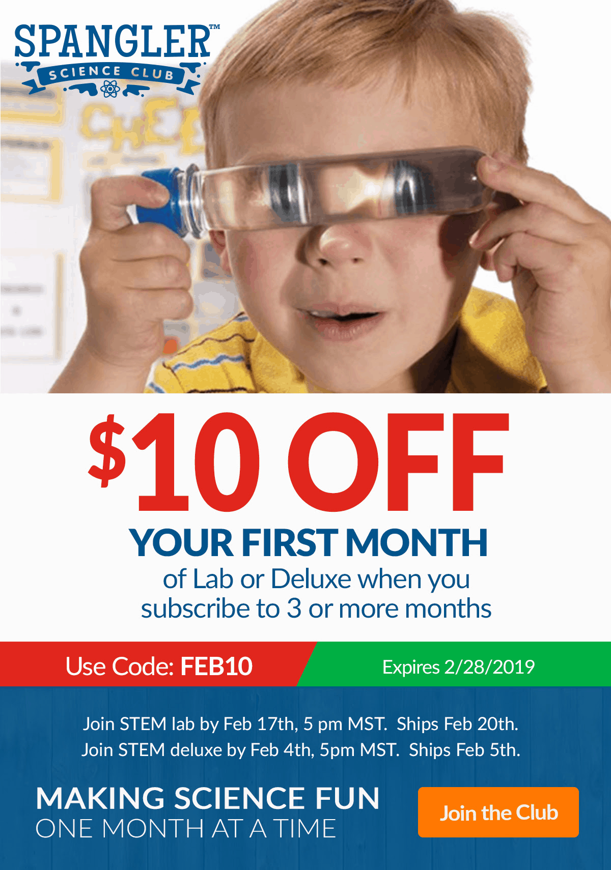 Spangler Science Club Coupon: $10 OFF On Your First Month!