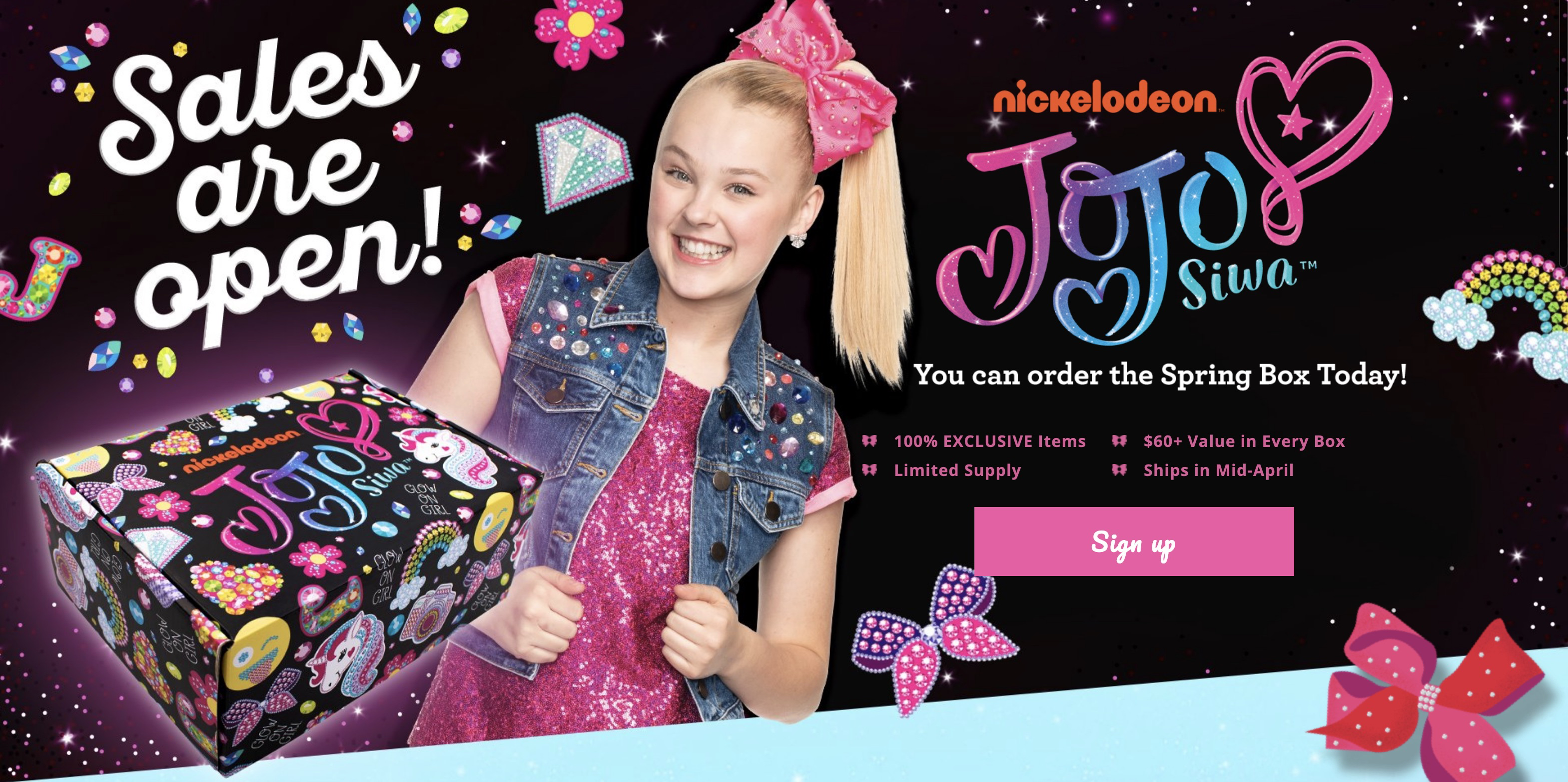 The Jojo Siwa Spring 2019 Box Available To Order Now Hello