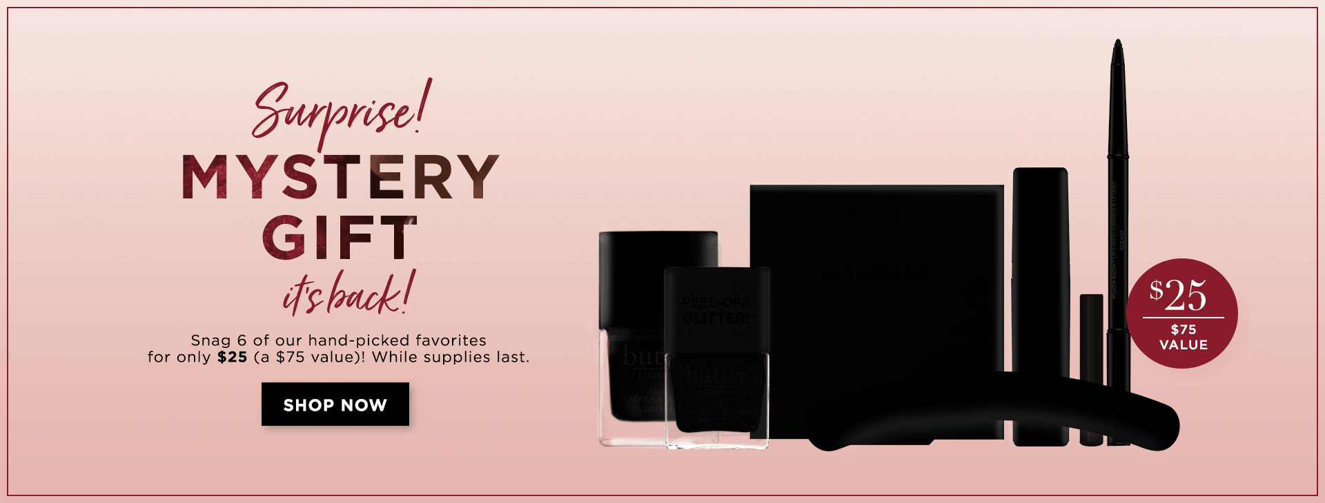 Butter London Valentine's Day Limited Edition Mystery Box Available Now + FREE Mystery Gift With Purchase!