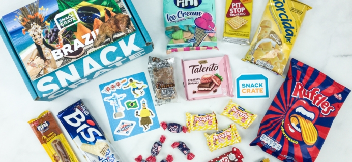 Snack Crate January 2019 Subscription Box Review & $10 Coupon