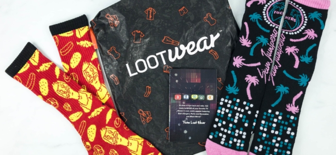 Loot Socks by Loot Crate January 2019 Subscription Box Review & Coupon