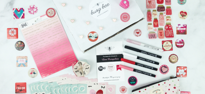 Busy Bee Stationery February 2019 Subscription Box Review
