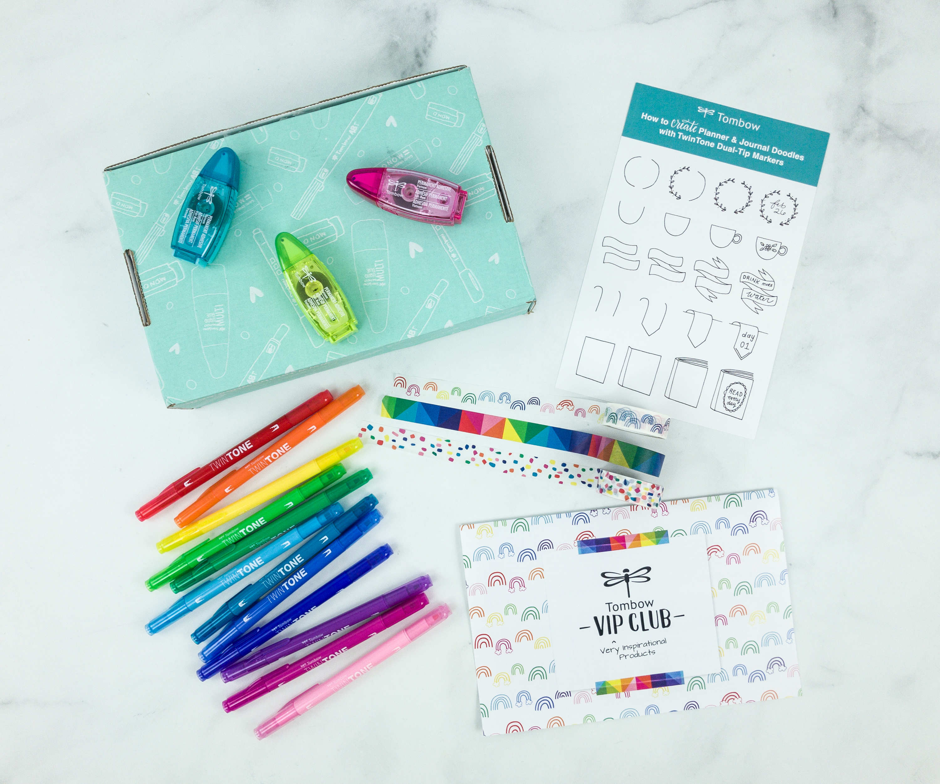 Tombow VIP Club Spring 2019 Box Review