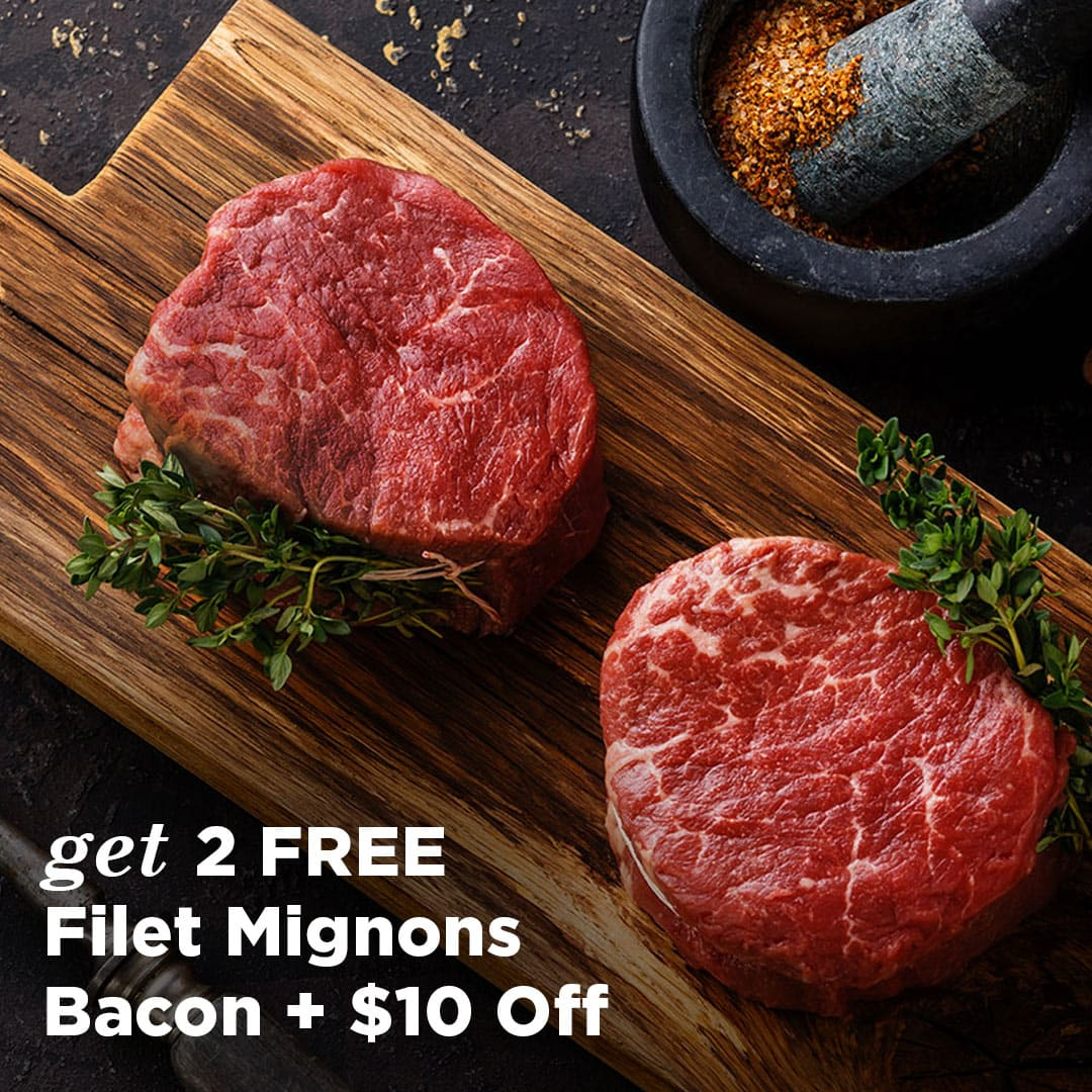 ButcherBox Deal: Get $10 Off + FREE Filet Mignon + Bacon!