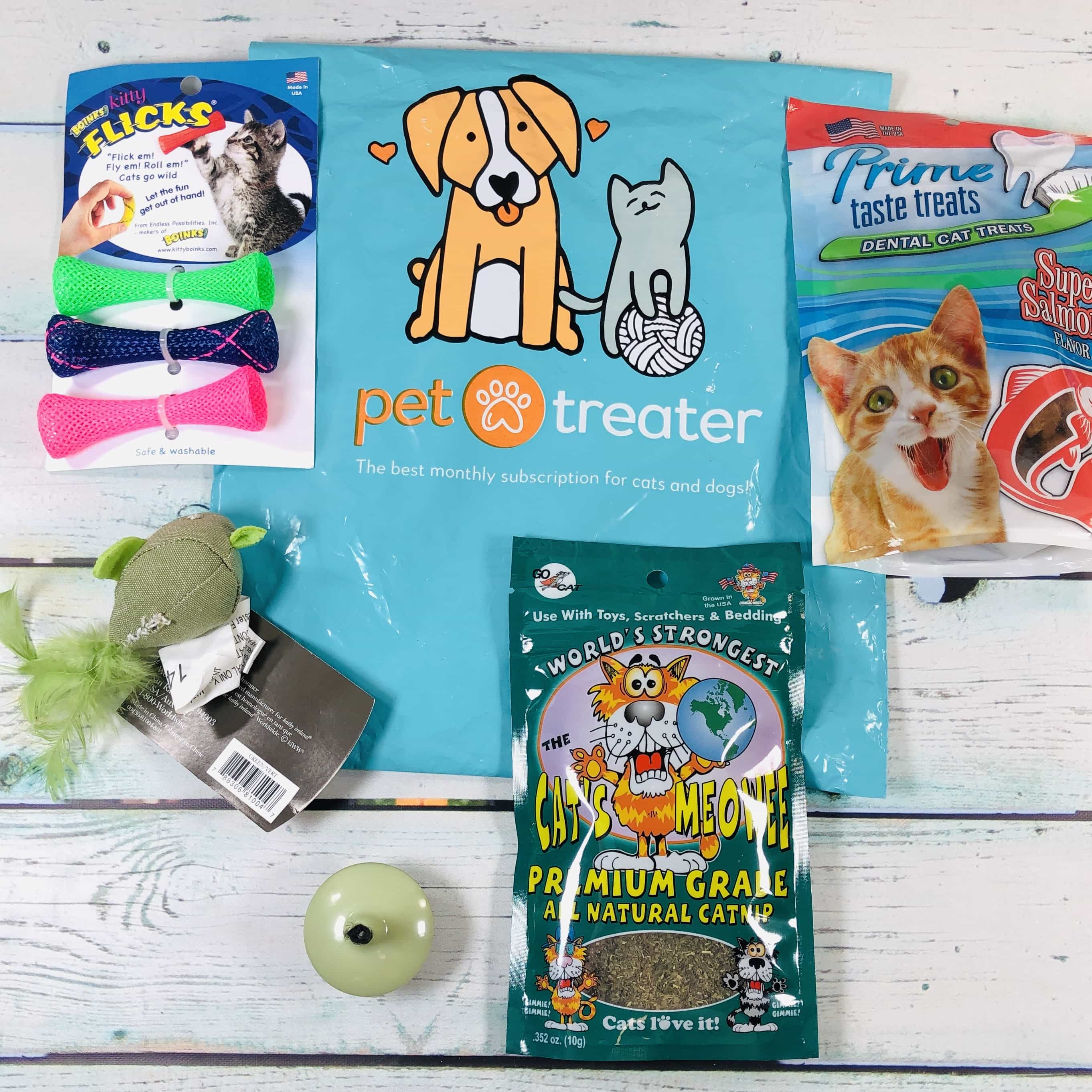 Pet Treater Cat Pack January 2019 Subscription Box Review + Coupon