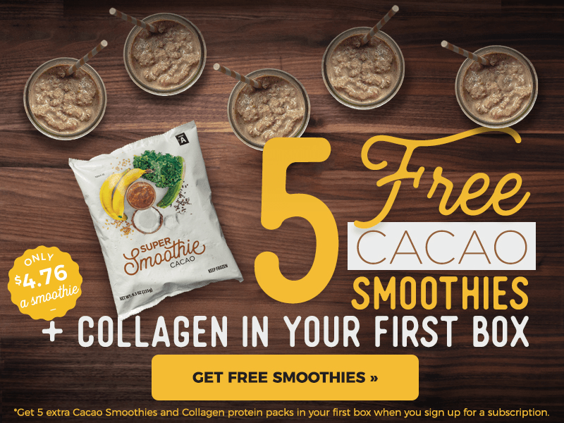 SmoothieBox Sale: Get 5 FREE Cacao Smoothies & Collagen Packs!