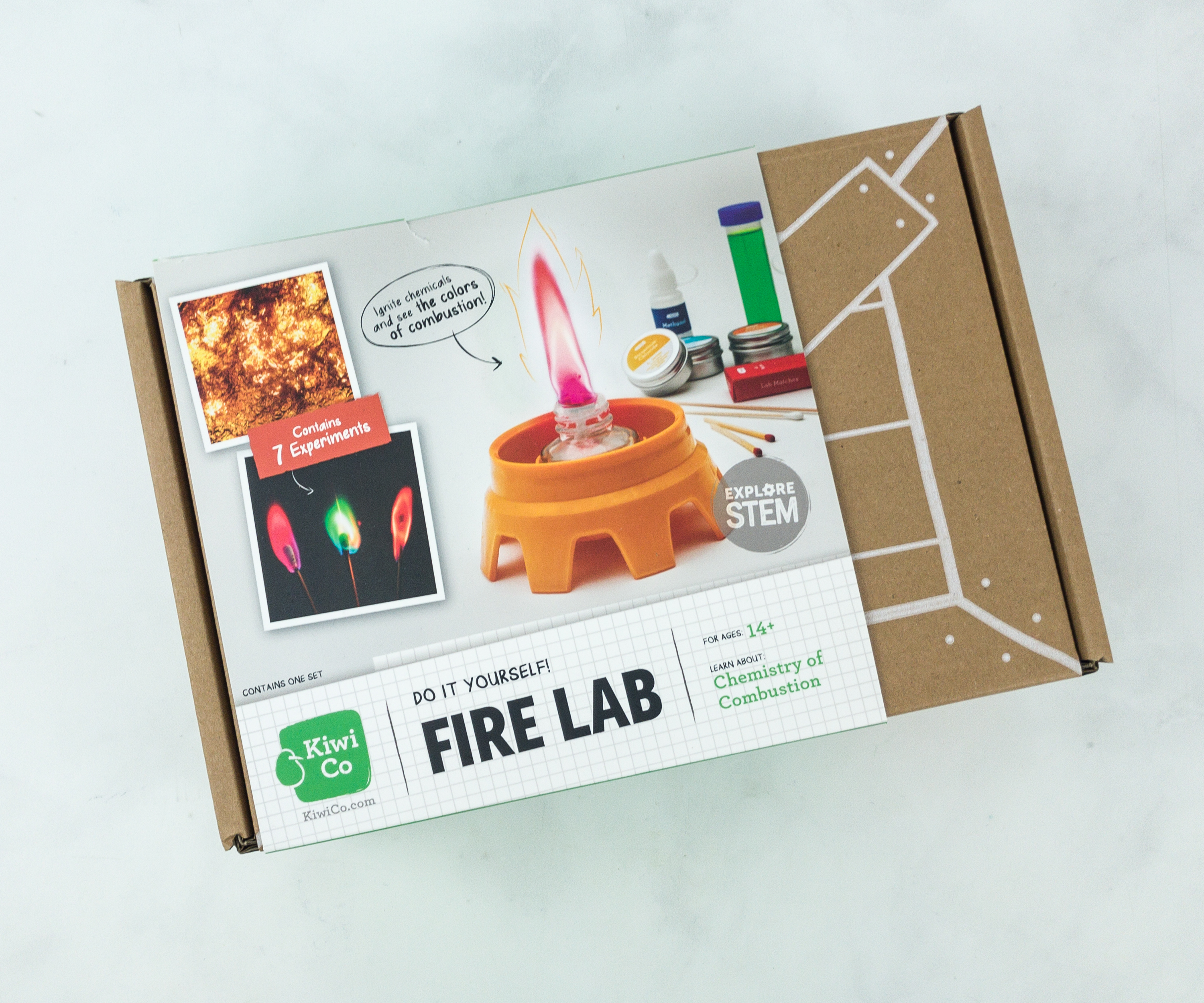 49b70641b KiwiCo, home to Tinker Crate and other STEM subscriptions for kids, has a  new Chemistry Set! There are 3 crates available, Fire Lab, Glow Lab, ...
