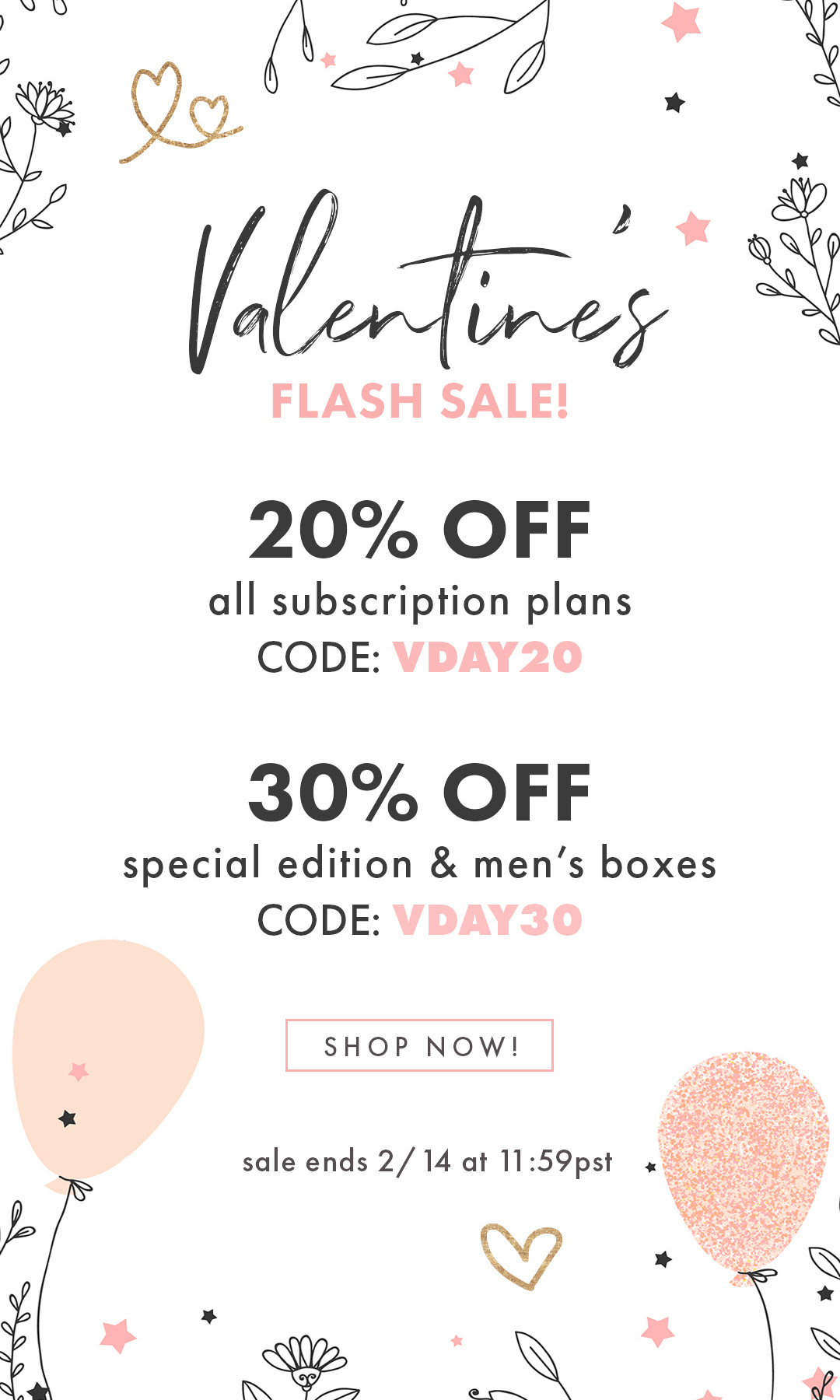 Bombay & Cedar Valentine's Day Flash Sale: Up to 30% Off With Subscriptions!