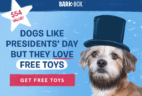 BarkBox President's Day Coupon: FREE Extra Toy Club!