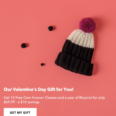 Bluprint Valentine's Day Sale:  Get Annual Bluprint Subscription & More For Only $69.99!