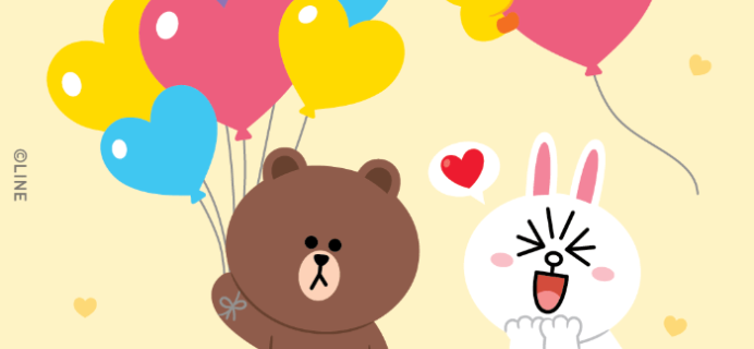 LINE Friends Box Valentine's Day Coupon: Get $15 Off With 6+ Month Subscription!