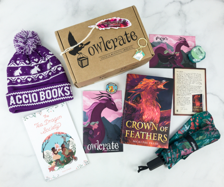 OwlCrate February 2019 Subscription Box Review + Coupon - hello subscription