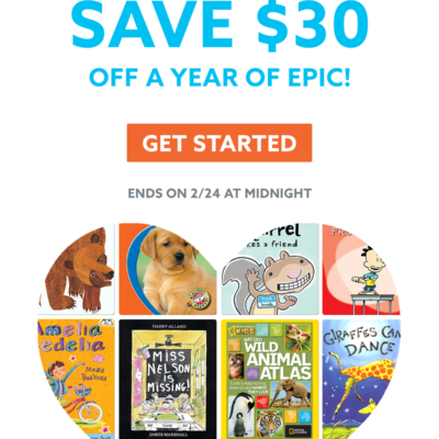 Epic! Kids Books Friends & Family Sale: Get $30 Off On Annual Subscription!