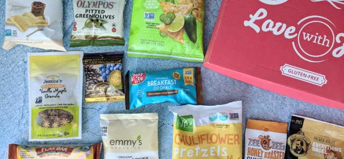 Love With Food Gluten-Free February 2019 Subscription Box Review + Coupon