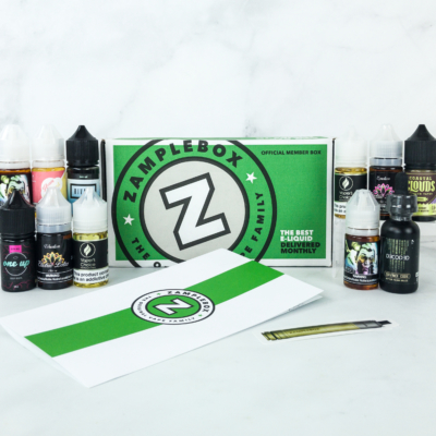 Zamplebox E-Juice February 2019 Subscription Box Review + Coupon!