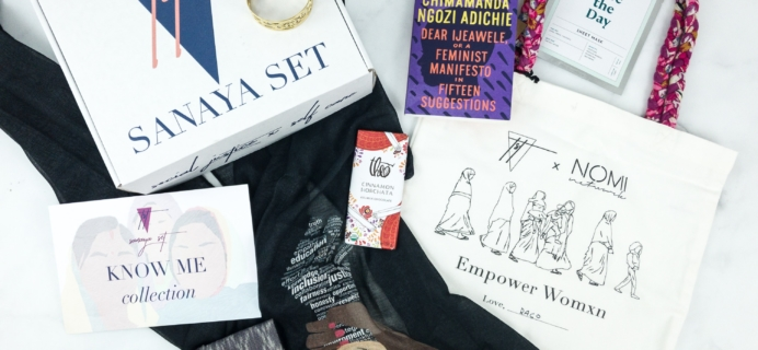Sanaya Set Winter 2018 Subscription Box Review
