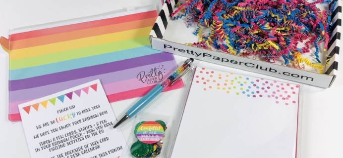 Pretty Paper Club February 2019 Subscription Box Review + Coupon