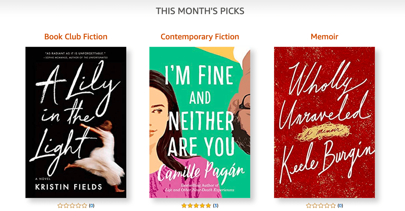 Amazon First Reads March 2019 Selections: 1 Book Free for