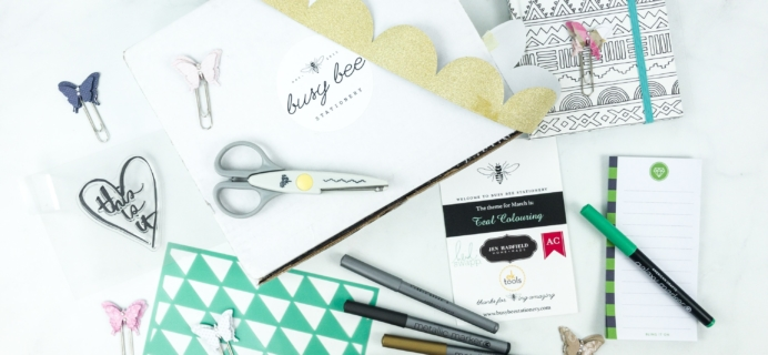 Busy Bee Stationery March 2019 Subscription Box Review