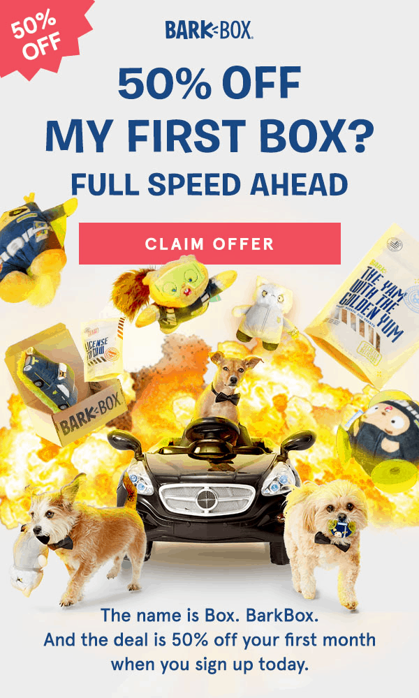TODAY ONLY Barkbox Flash Sale: 50% Off First Box!