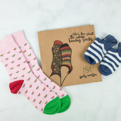 Socks Matter March 2019 Subscription Box Review + Coupon