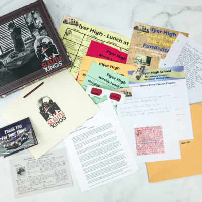 Sleuth Kings Subscription Box Review + Coupons – Case 016 Flyer Fundraiser