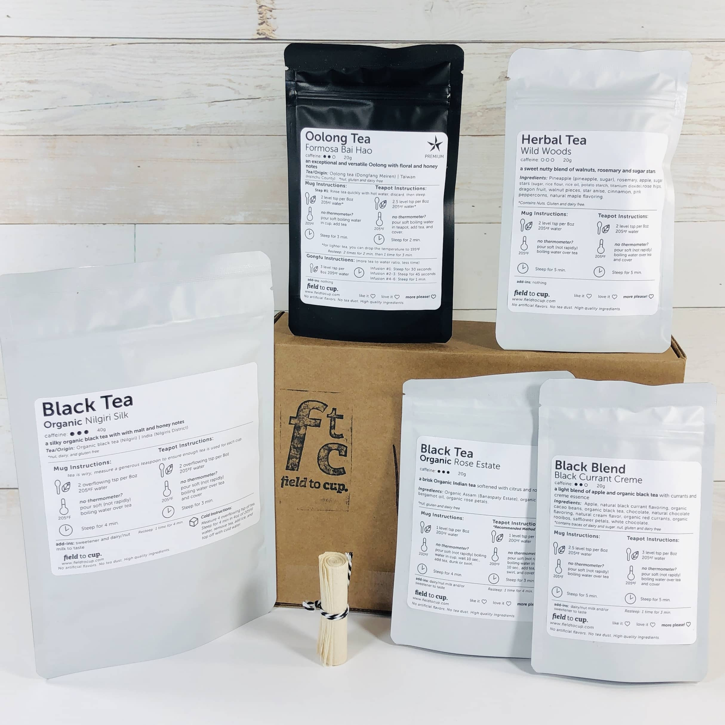 Field To Cup March 2019 Subscription Box Review + Coupon