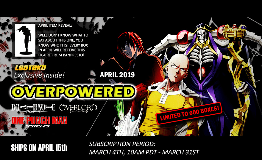 Lootaku April 2019 Theme Spoilers + Coupon!