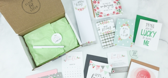 Flair and Paper March 2019 Subscription Box Review & Coupon