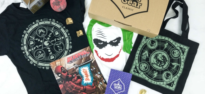 Geek Gear Box February 2019 Subscription Box Review + Coupon