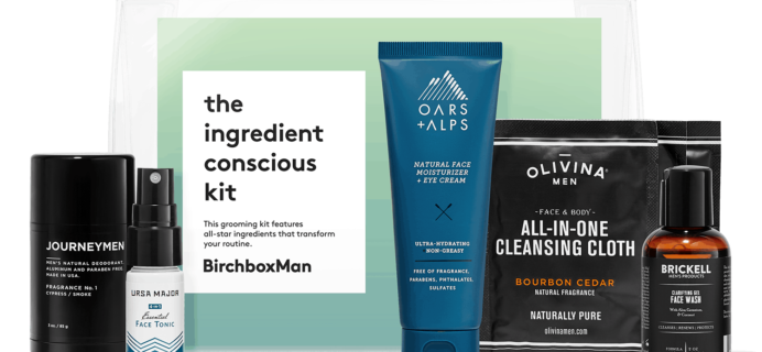 The Ingredient Conscious Kit – New Birchbox Man Kit Available Now + Coupons!