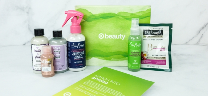Target Beauty Box Review March 2019