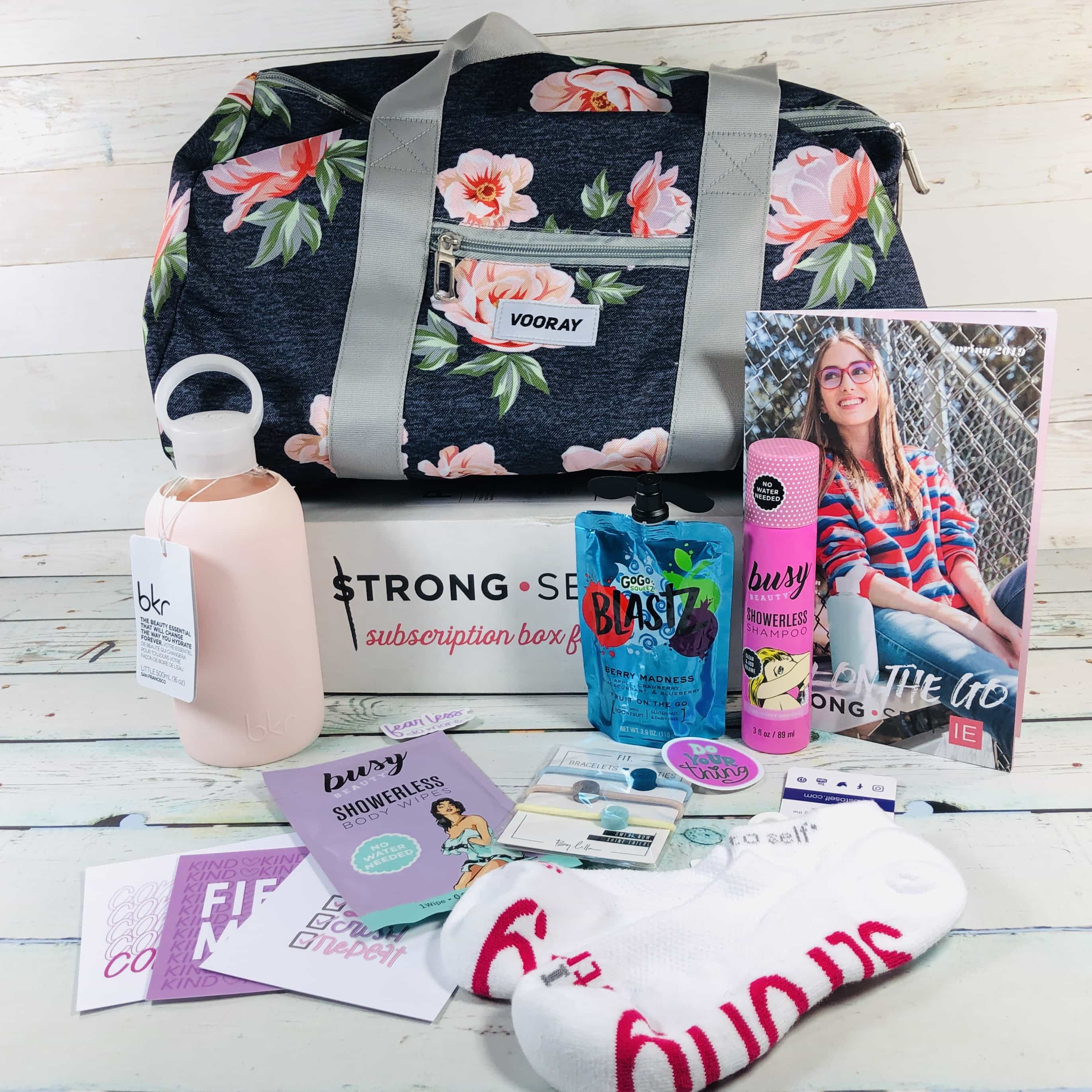 STRONG self(ie) Subscription Box Review – Spring 2019 BURST Box