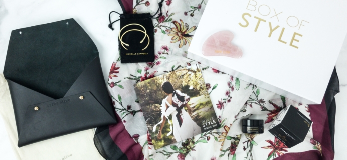 Box of Style by Rachel Zoe Spring 2019 Review + Coupon