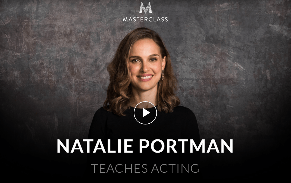 MasterClass Natalie Portman Class Available Now!