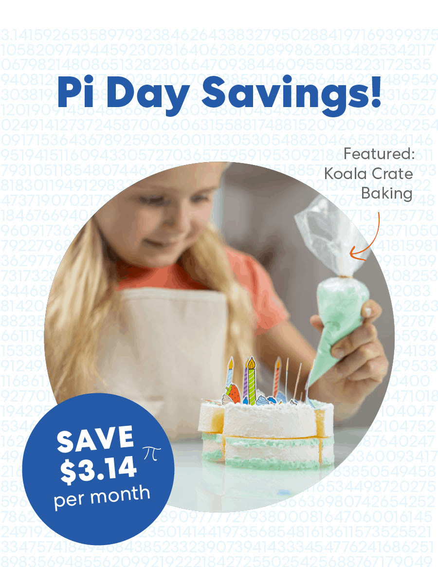 KiwiCo Pi Day Flash Sale: Get $3.14 Off Your First Month – TODAY ONLY!