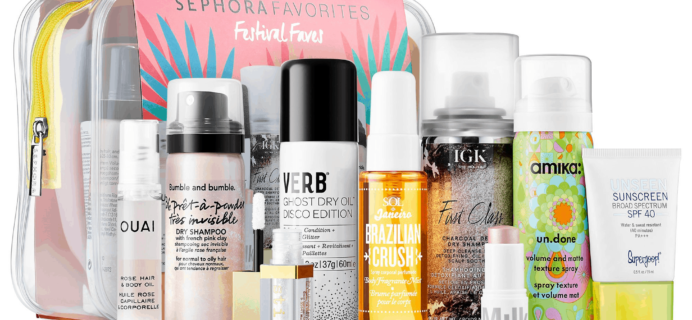 New Sephora  Festival Faves Kit Available Now + Coupons!