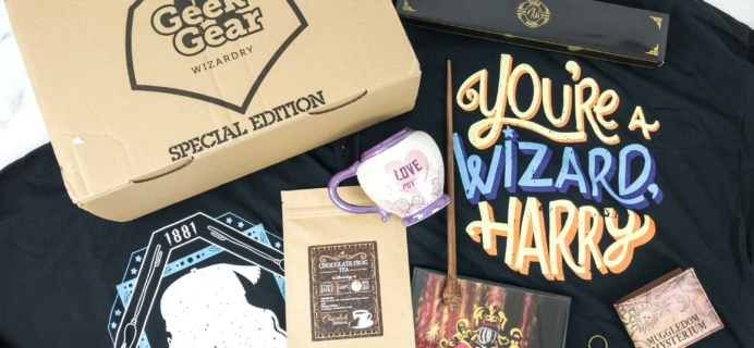 Geek Gear World of Wizardry February 2019 Special Edition Box Review