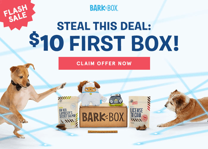BarkBox National Puppy Day Coupon: First Box $10! LAST DAY!