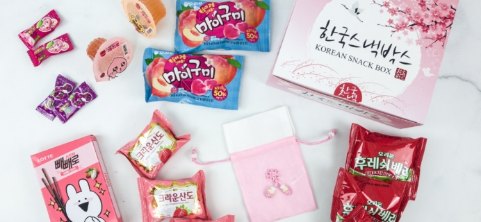 Korean Snack Box April 2019 Subscription Box Review + Coupon