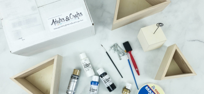 Adults & Crafts Subscription Box Review + Coupon – TRIANGLE SHELVES